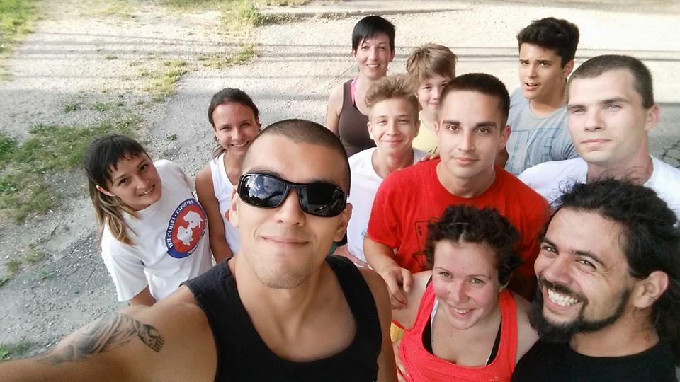 A győri capoeira csoport crossfit edzés után