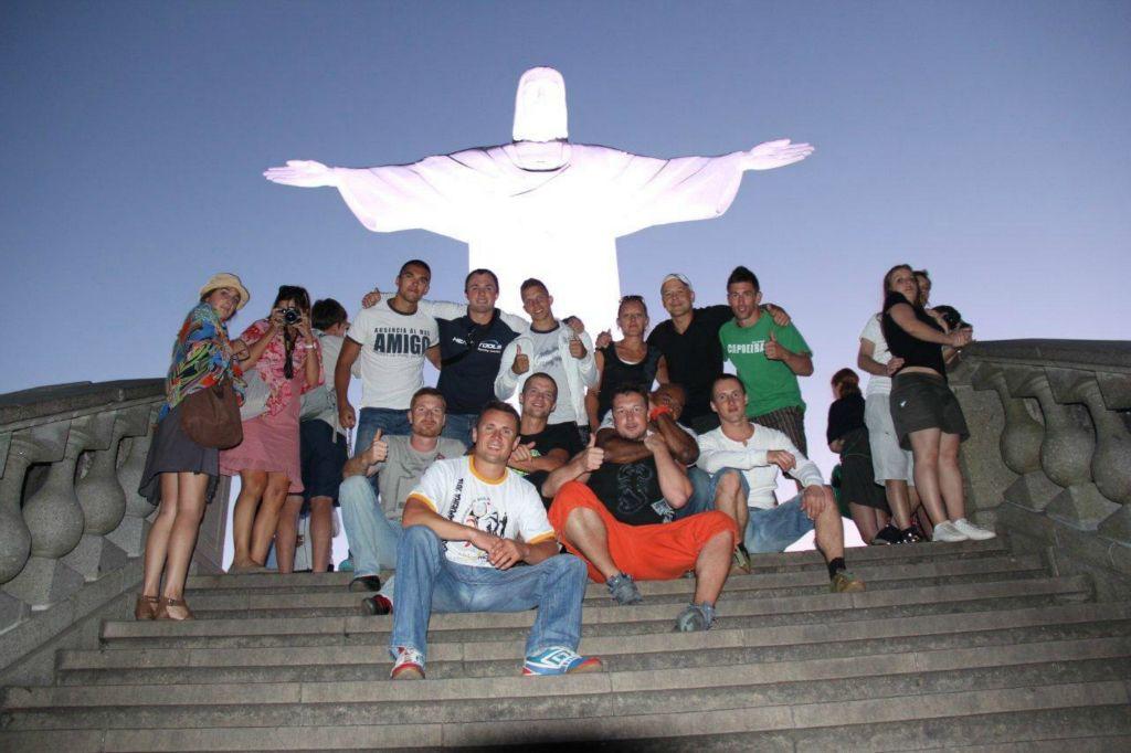 Mestre Paçoca és a csapat Brazíliában